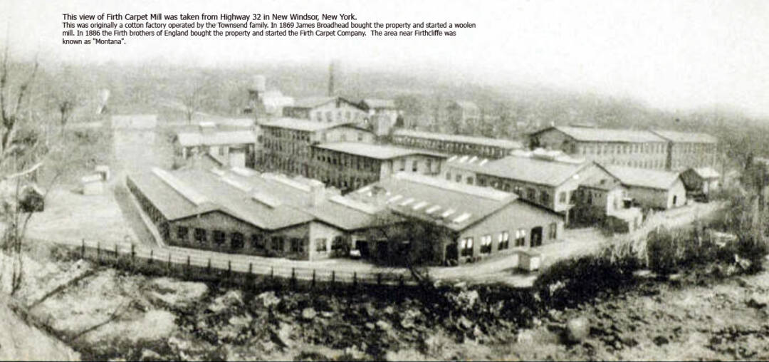 carpet factory with moodna in foreground