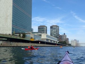 East river -we are the Kayak and Canoe Club of New York...and what could be more about Kayaking and New York then paddling around New York (County) more popularly known as Manhattan Island.